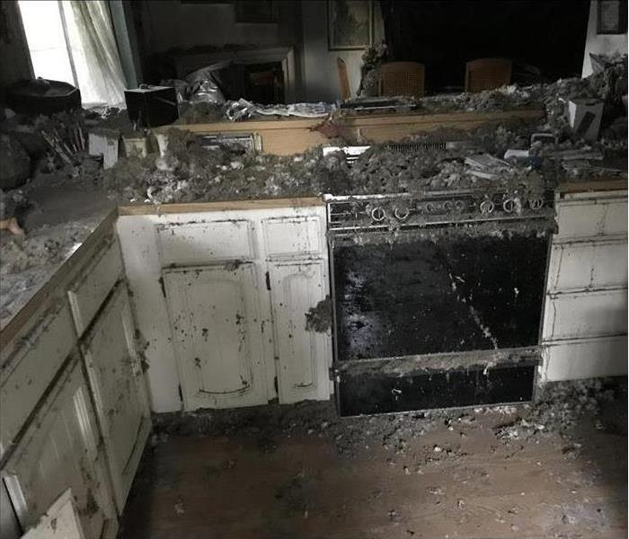 Kitchen burned out completely by fire