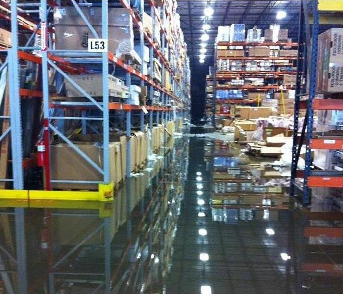 Warehouse with Deep Water Flooding