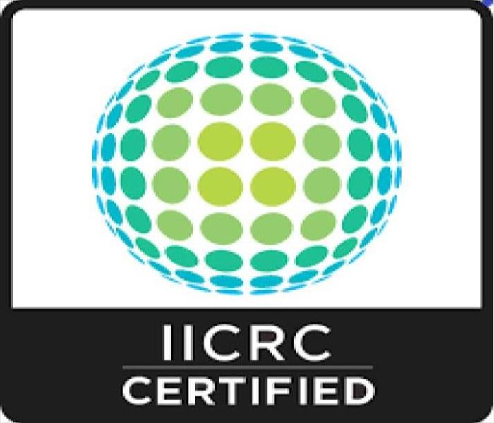 "Image of IICRC logo with words ""IICRC Certified"" underneath"
